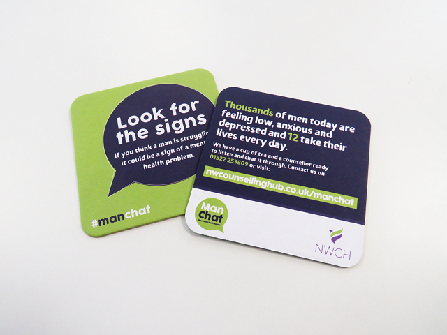 NW Counselling Hub Beer Mats