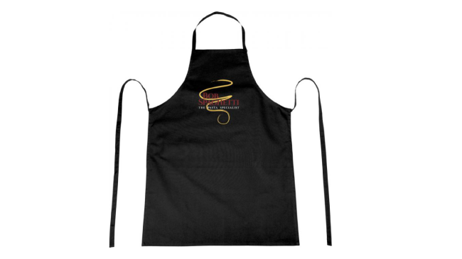 Thumbnail for 100% cotton apron with tie-back closure