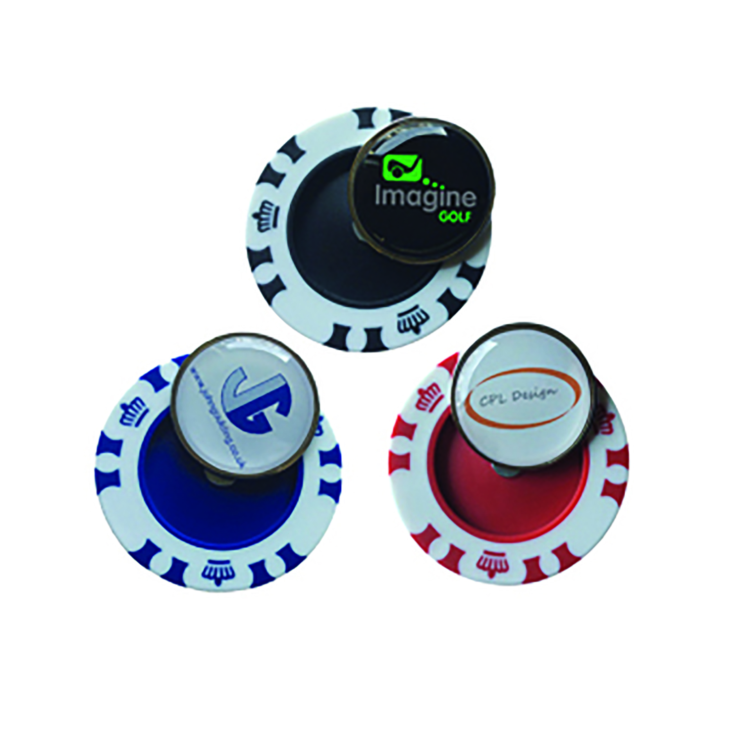 Thumbnail for Crown Poker Chips