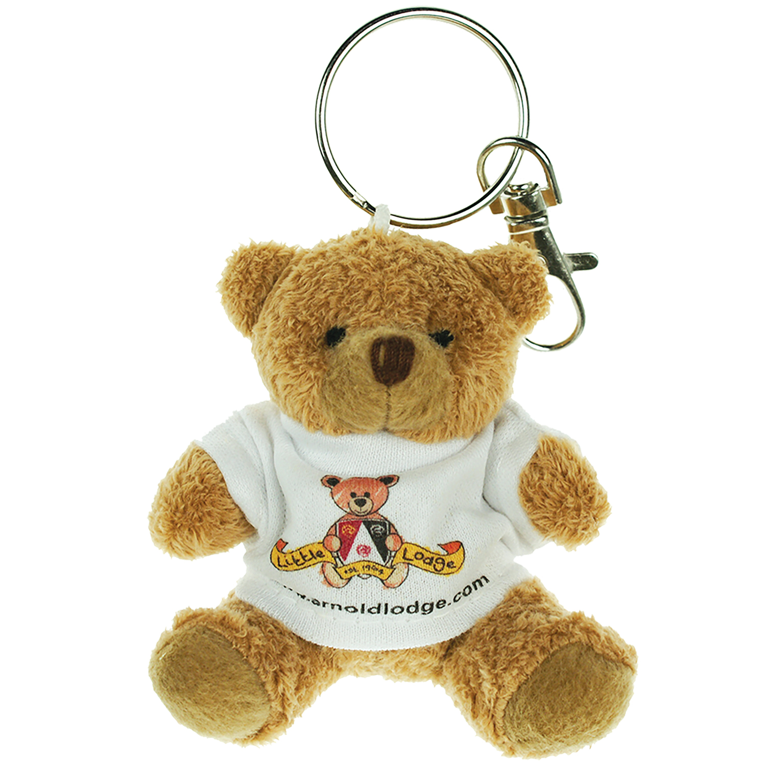 Thumbnail for 8cm Paw Tubby Keyring T-shirt Bear