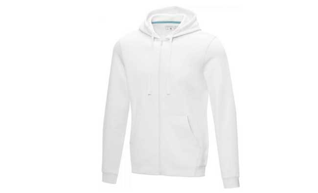 Thumbnail for Men's GOTS organic recycled full zip hoodie