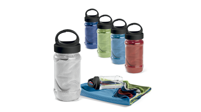 Thumbnail for Sports towel with bottle-shaped packaging
