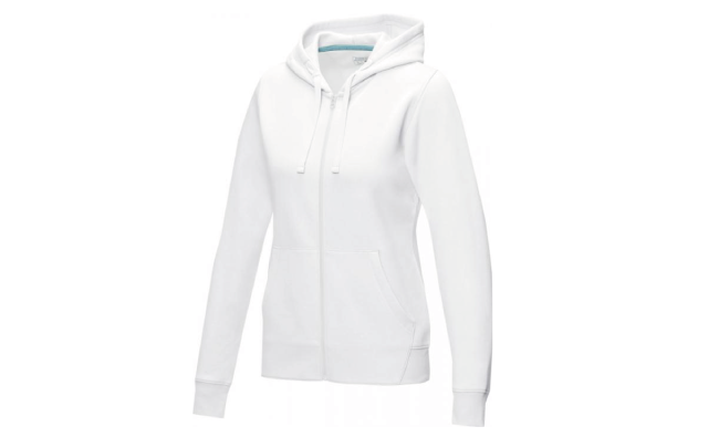 Thumbnail for Women's GOTS organic recycled full zip hoodie